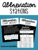 Abbreviation Stations
