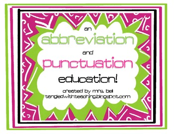 Abbreviation and Punctuation Education