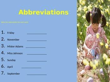 Abbreviations