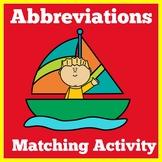 Abbreviations 2nd Grade Worksheets | Abbreviations Activity