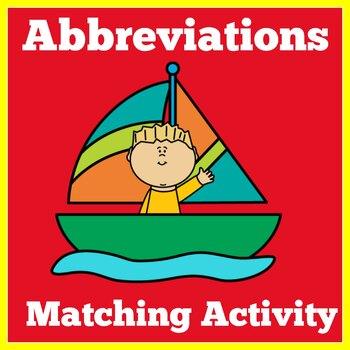Abbreviations Worksheet | Abbreviations  Activity | Abbrev