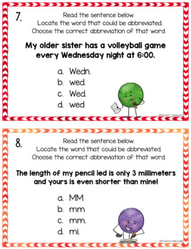 Abbreviations Activities: Rules, Task Cards, Study Sheets and MORE