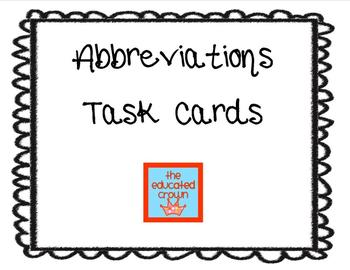 Abbreviations- 24 task cards