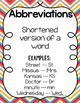 Abbreviations: Activities, Games, & Posters for Practice & Review