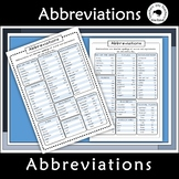 Abbreviations Anchor Chart