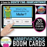 Abbreviations | Grammar | Boom Cards™ - Distance Learning