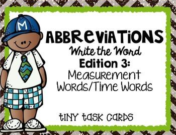 Abbreviations Bundle Tiny Task Cards (6 sets)