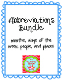 Abbreviations Bundle!!! worksheets, matching games, task cards, test