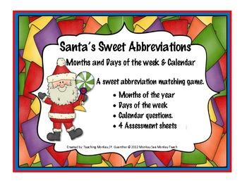 Abbreviations:  Christmas: Santa's Sweet Shoppe