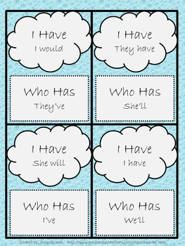Abbreviations & Contractions - 2 Games - I have... Who has...
