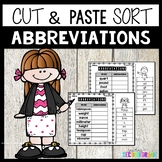 Abbreviations Worksheets Cut and Paste