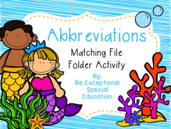 Abbreviations File Folder Fun
