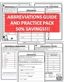 Abbreviations Worksheets Abbreviations Practice Pack Abbreviation Worksheets