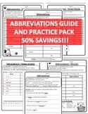 Abbreviations Worksheets Abbreviations Practice Pack Abbreviation Worksheets