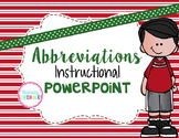 Abbreviations Instructional PowerPoint