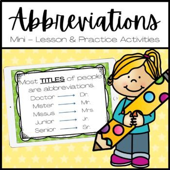 Abbreviations For Titles Of People Worksheets & Teaching
