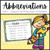 Abbreviations Lesson Slide Show and Quiz
