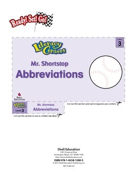 Abbreviations--Mr. Shortstop Literacy Center (eLesson)