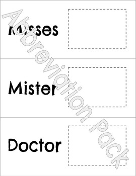 Abbreviations Pack