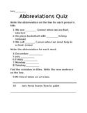 Abbreviations Quick Quiz