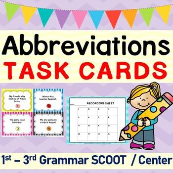 Abbreviations Grammar SCOOT or Task Cards