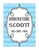 Abbreviations SCOOT Game
