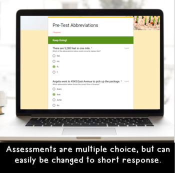 Abbreviations SELF-GRADING Assessments for Google Classroom