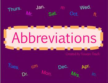 Abbreviations SMARTBoard Activities