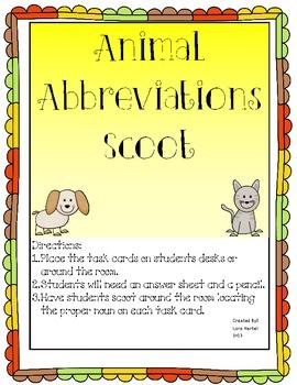 Abbreviations Scoot