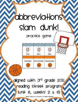 Abbreviations Slam Dunk! Basketball Game (3rd Grade Readin