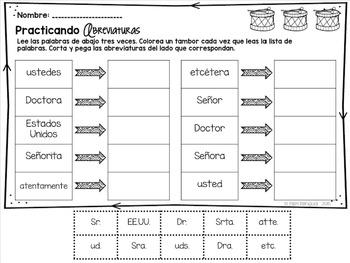 Abbreviations {Spanish}