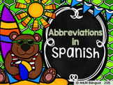 Abbreviations {Spanish}