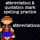 Abbreviations Spelling Practice - 2nd Grade Word Work - Camping Themed