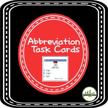 Abbreviations Task Cards