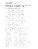 Abbreviations Test