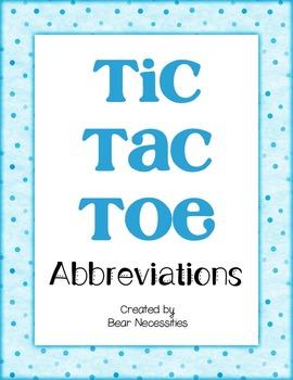 Abbreviations Tic-Tac-Toe