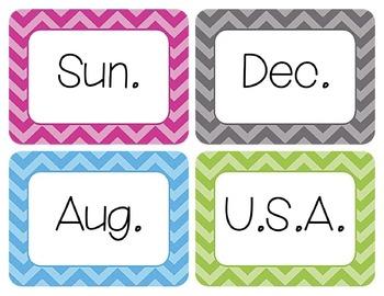 Abbreviations Word Wall Cards