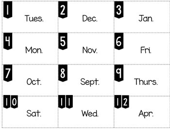 Abbreviations Write the Word Edition 1 Days of Week/Months of Year