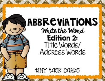 Abbreviations Write the Word Edition 2 Title Words/Address Words