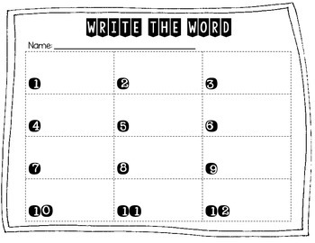 Abbreviations Write the Word Edition 3 Measurement Words/Time Words