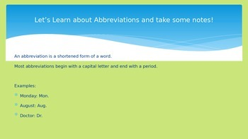 Abbreviations and Organizational Writing