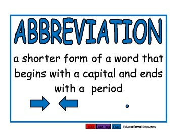 Abbreviations blue