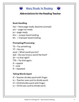 Abbreviations for Teaching Reading FREEBIE {Be a Professional Series}