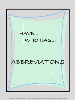 Abbreviations_I Have...Who Has...