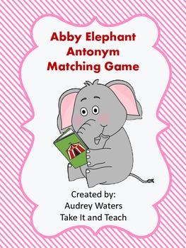 Abby Elephant Antonym Matching Game