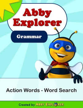 Abby Explorer Grammar - First Level: Action Words - Word Search