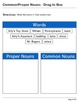 Abby Explorer Grammar - First Level: Common/Proper Nouns - Write in Box