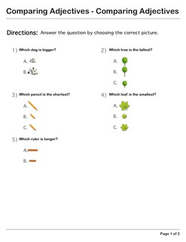 Abby Explorer Grammar - First Level: Comparing Adjectives - Comparing Adjectives