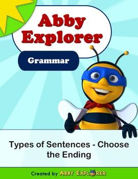 Abby Explorer Grammar - First Level: Types of Sentences - Choose the Ending