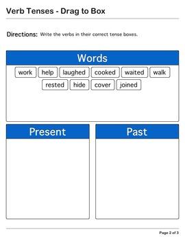 Abby Explorer Grammar - First Level: Verb Tenses - Write in Box
